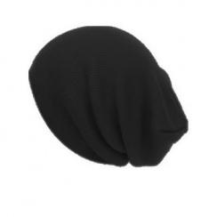 Long Beanie Hat In Black