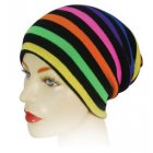 Long Beanie Hat Multicoloured On Black