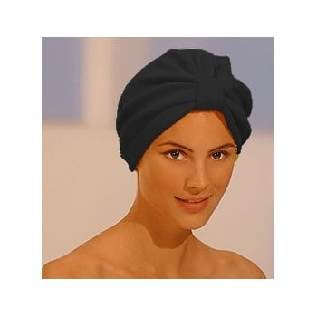 Luxurious Towelling Turban Black