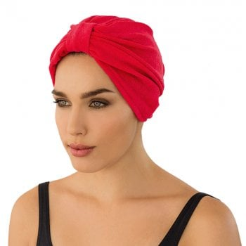 Luxurious Towelling Turban Red