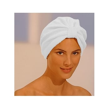Luxurious Towelling Turban White