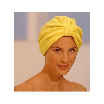 Luxurious Towelling Turban Yellow