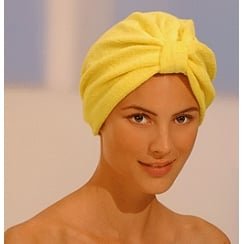 Luxurious Towelling Turban Yellow