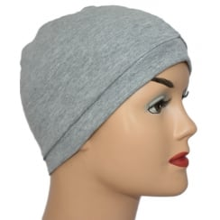 Marl Grey 100% Cotton Jersey Head Cap