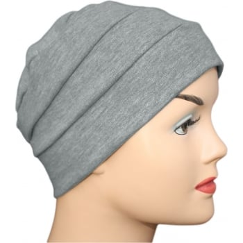 Marl Grey 3 Seam Hat/Turban In 100% Cotton Jersey