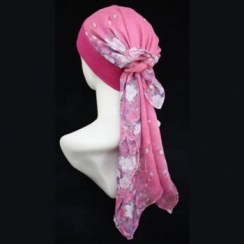 Mia Band Scarf Floral Shades Of Red