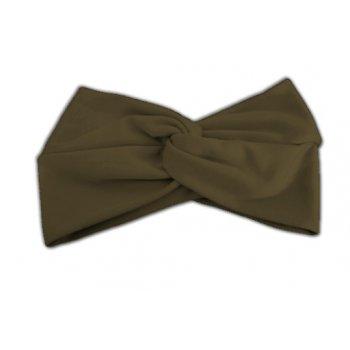 Mocha Brown Cotton Jersey Twist Wrap