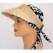 Natural Straw Open Visor With Velcro Fastening By Seeberger