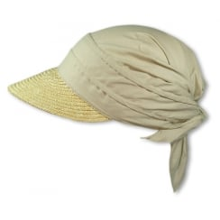 Natural Straw Visor Hat By Seeberger