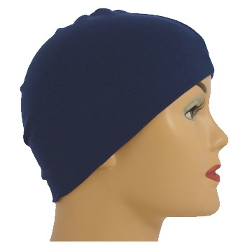 Navy 100% Cotton Jersey Head Cap