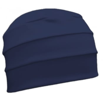 Navy 3 Seam Hat/Turban In 100% Cotton Jersey