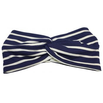 Navy And Cream Stripped Twist Wrap