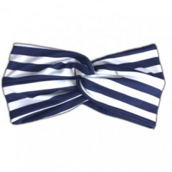 Navy And White Stripped Twist Wrap