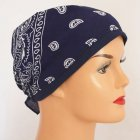 Navy Blue Jersey Cap Bandana 100% Cotton