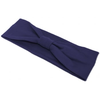 Navy Cosy Headband 100% Cotton Jersey
