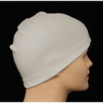 Oatmeal 100% Cotton Jersey Head Cap
