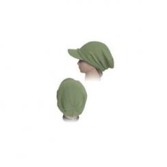 Olive Visor Slouch Beanie Hat