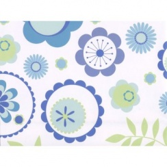 Patterned Design Gift Wrap In Aqua And Green