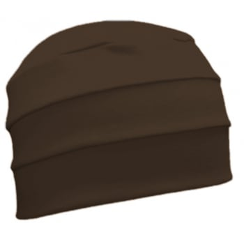 Petite Brown 3 Seam Hat/Turban in 100% Cotton Jersey