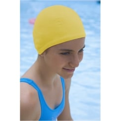 Petite/Child Bubble Non Pull Swim Cap Yellow
