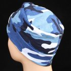 Petite Cosy Hat In Blue Camouflage