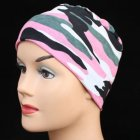 Petite Cosy Hat In Pink Camouflage