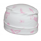 Petite Cosy Hat Pink Handbags On White Petite Cosy Hat In Pink 100% Cotton Jersey