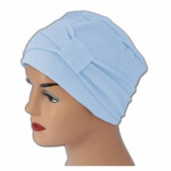 Petite Cosy Hat With Band Baby Blue (Sky) 100% Cotton Jersey (2 Pieces)