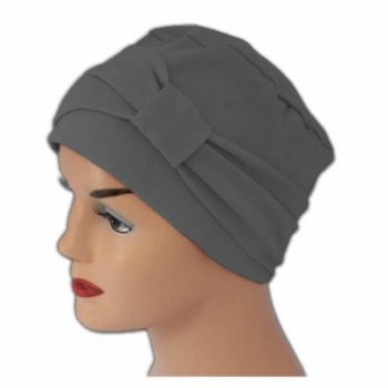 Petite Cosy Hat With Band Grey 100% Cotton Jersey (2 Pieces)