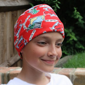 Petite Cosy Hat Zoo Animals On Red