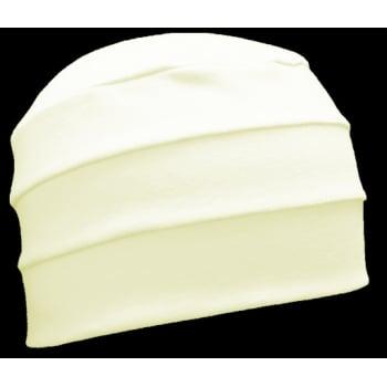 Petite Cream 3 Seam Hat/Turban in 100% Cotton Jersey