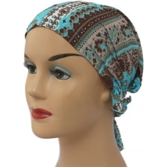 Petite Easy Tie Bandana Greek Blue