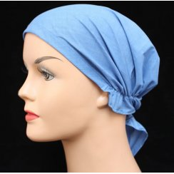 Petite Easy Tie Bandana In Plain Denim