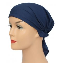 Petite Easy Tie Bandana In Plain Navy 100% Cotton