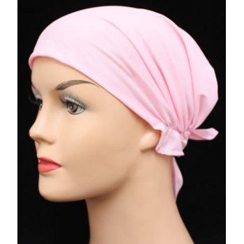 Petite Easy Tie Bandana In Plain Pink