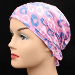 Petite Easy Tie Bandana Retro Pattern On Pink