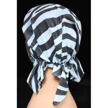 Petite Easy Tie Bandana Zebra Black And Grey