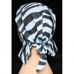 Petite Easy Tie Bandana Zebra Black And Grey
