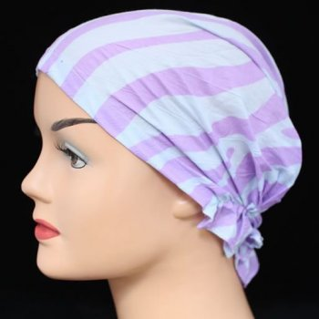 Petite Easy Tie Bandana Zebra Grey And Lilac