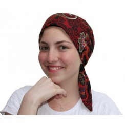 Petite Floriana Padded Chiffon Head Tie Scarf (Burgundy, Blue, Green, Black) NEW FIT!