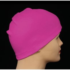 Petite Fuschia 100% Cotton Jersey Head Cap