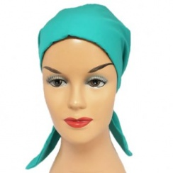Petite Jade Padded Cotton Head Tie Scarf