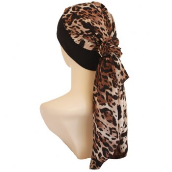 Petite Lara Band Scarf Animal Print