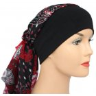 Petite Lara Band Scarf Paisley Black and Red