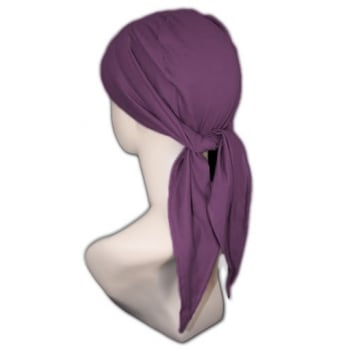 Petite Light Jersey 3 Seams Padded Bandana In Plum