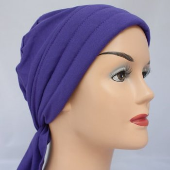 Petite Light Jersey 3 Seams Padded Bandana In Purple