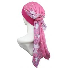 Petite Mia Band Scarf Floral Shades Of Red