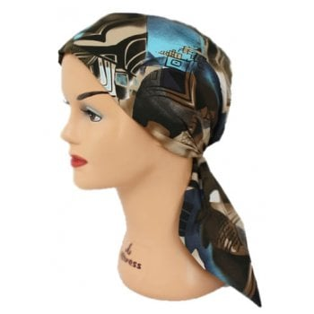 Petite Ocean Kenya Padded Cotton Head Tie Scarf