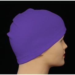 Petite Purple 100% Cotton Jersey Head Cap
