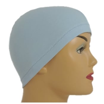 Petite Sky Blue 100% Cotton Jersey Head Cap